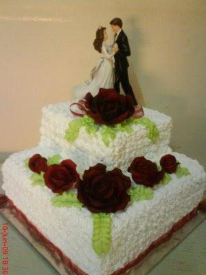 Ukuran Kue Pernikahan Anda yang Tepat kotak kue pengantin dan
